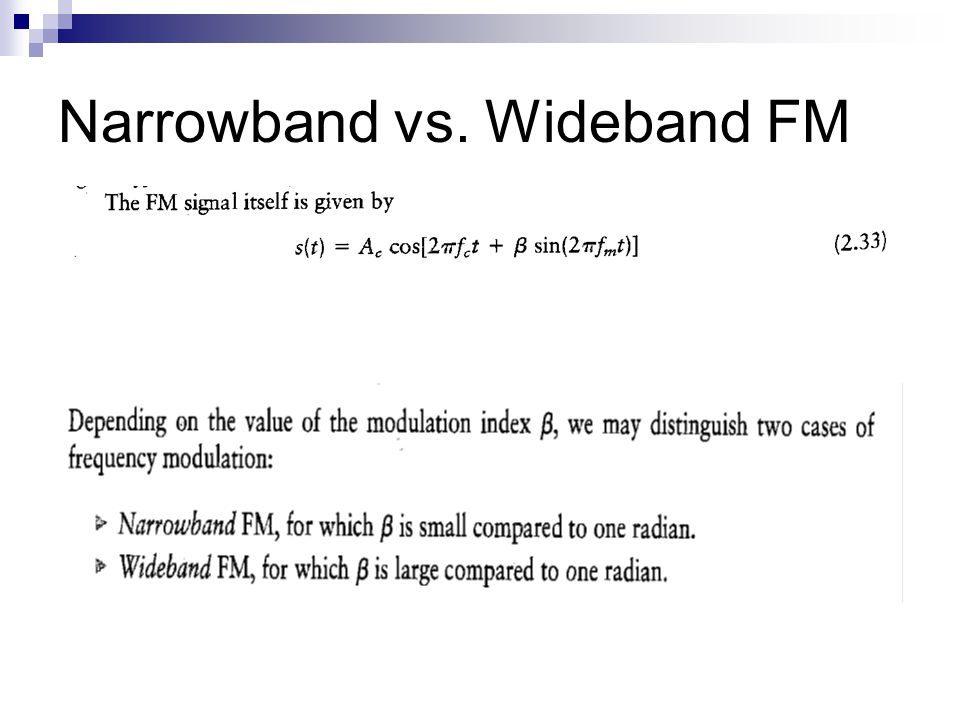 Narrowband vs. Wideband FM