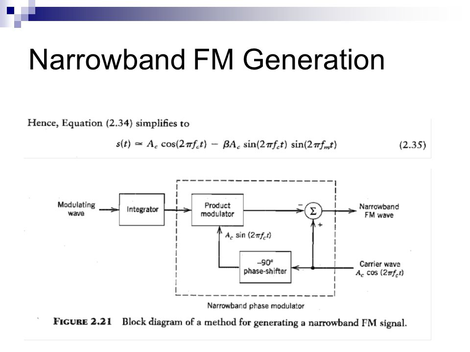 Narrowband FM Generation