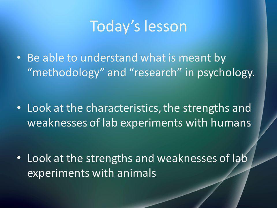 What is methodology?