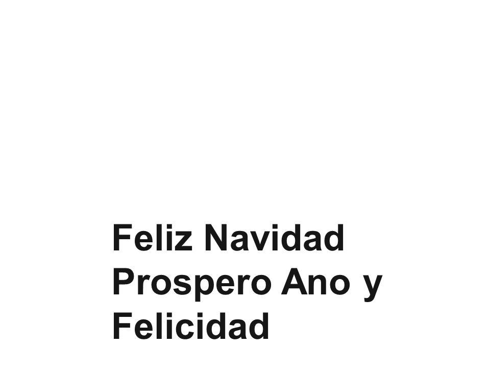 Prospero Ano y Felicidad