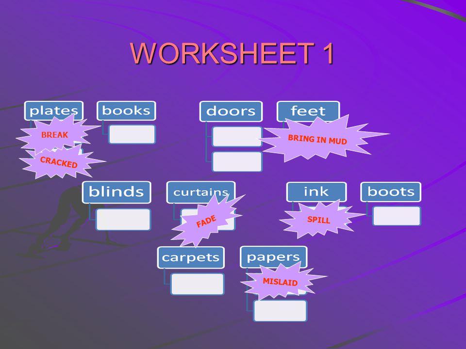 Materials Worksheet 1 Handout 1