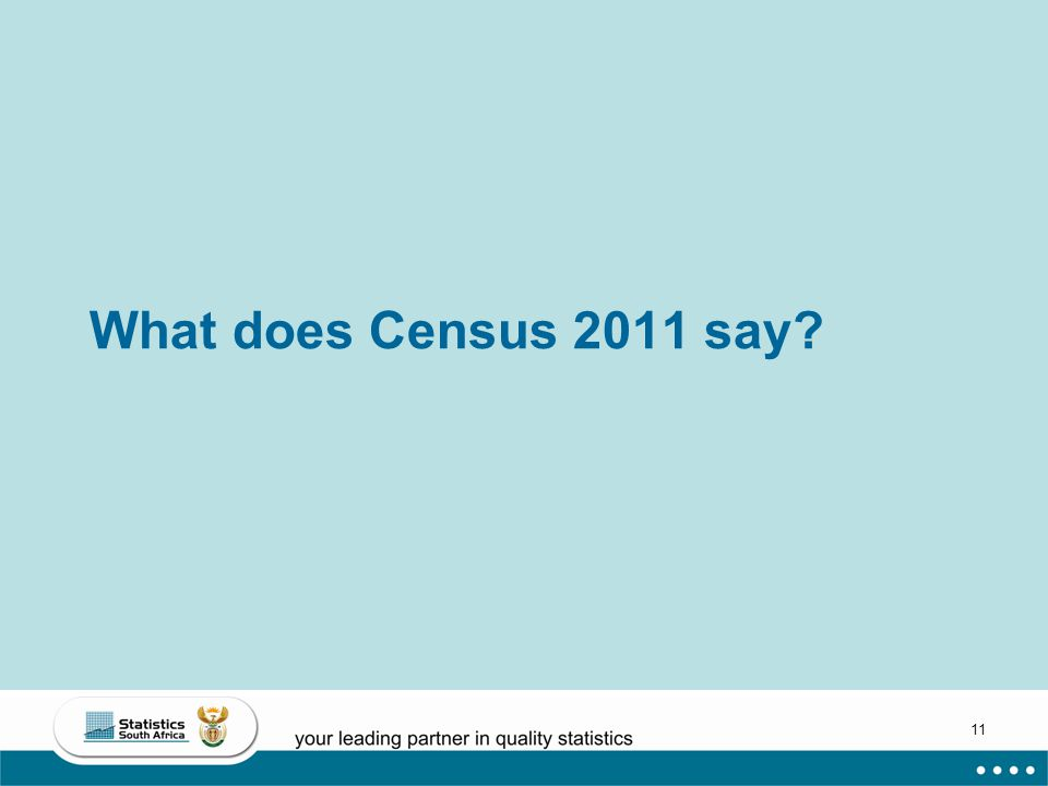 11 What does Census 2011 say?