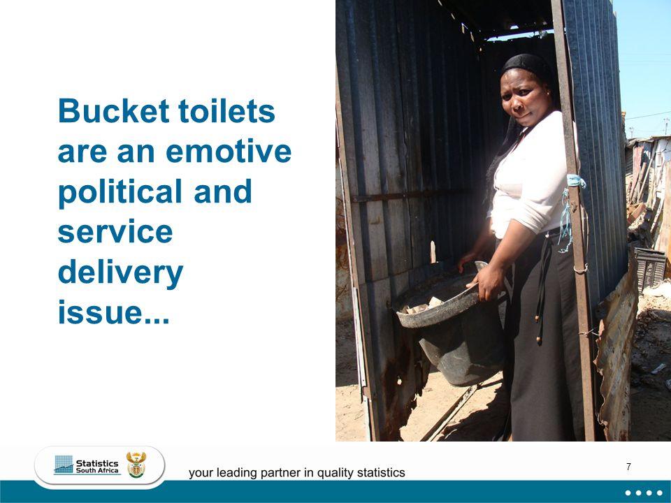 28 Ugu No decent sanitation (bucket, none, other) 13% Bucket = 1% (3 124 household)