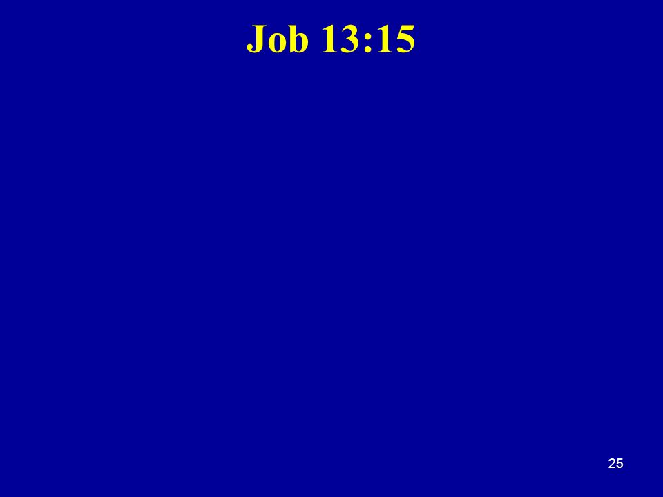 Job 13:15 25
