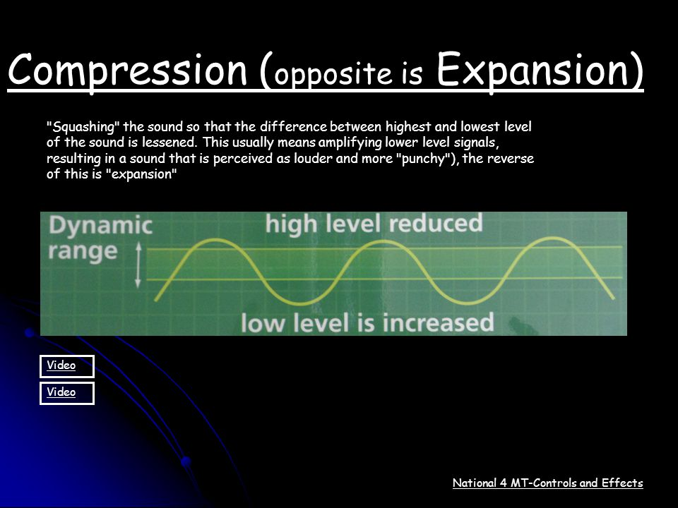 National 4 MT-Controls and Effects Compression ( opposite is Expansion)