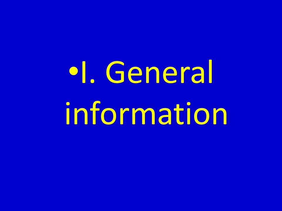 I. General information