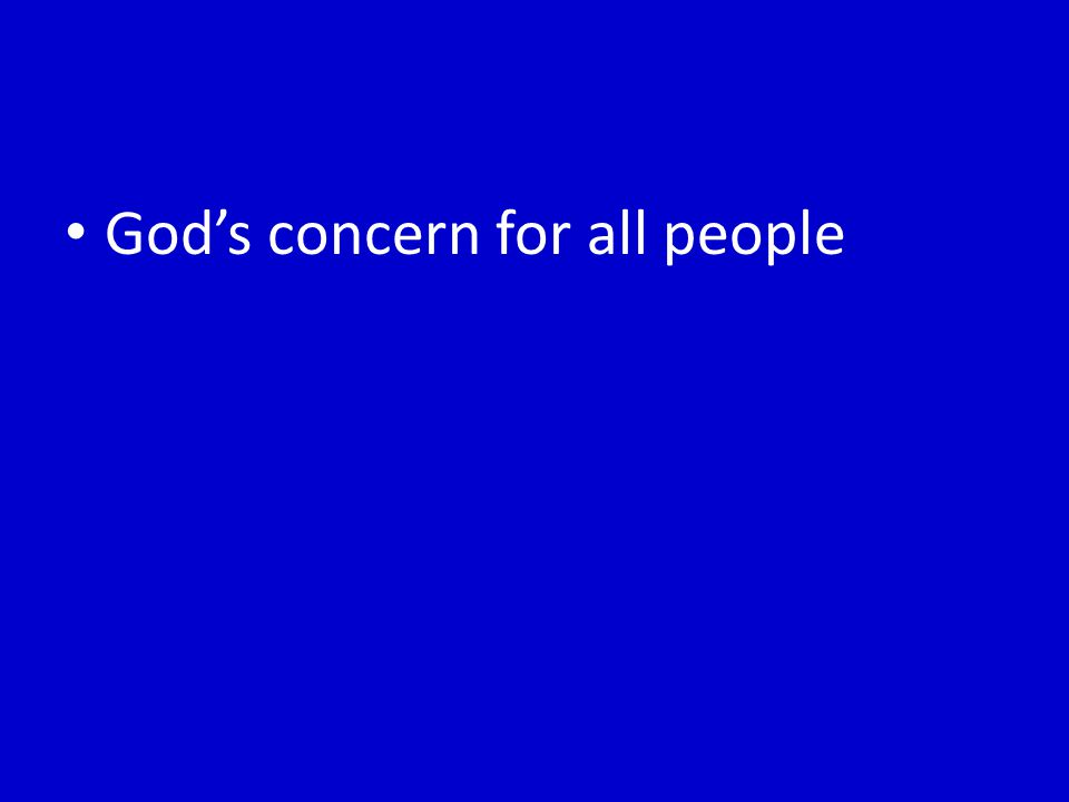 God's concern for all people