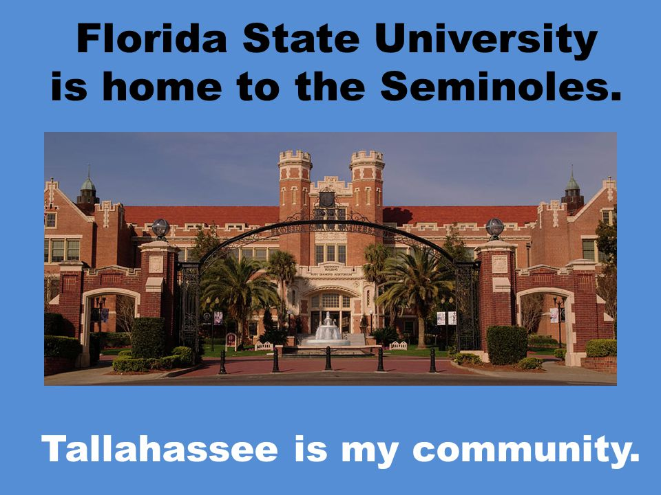 FAMU is home to the Rattlers. Tallahassee is my community.