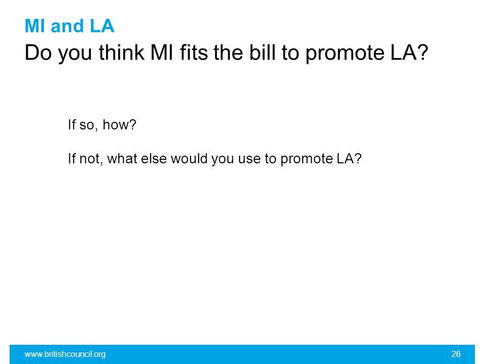 MI and LA Do you think MI fits the bill to promote LA.