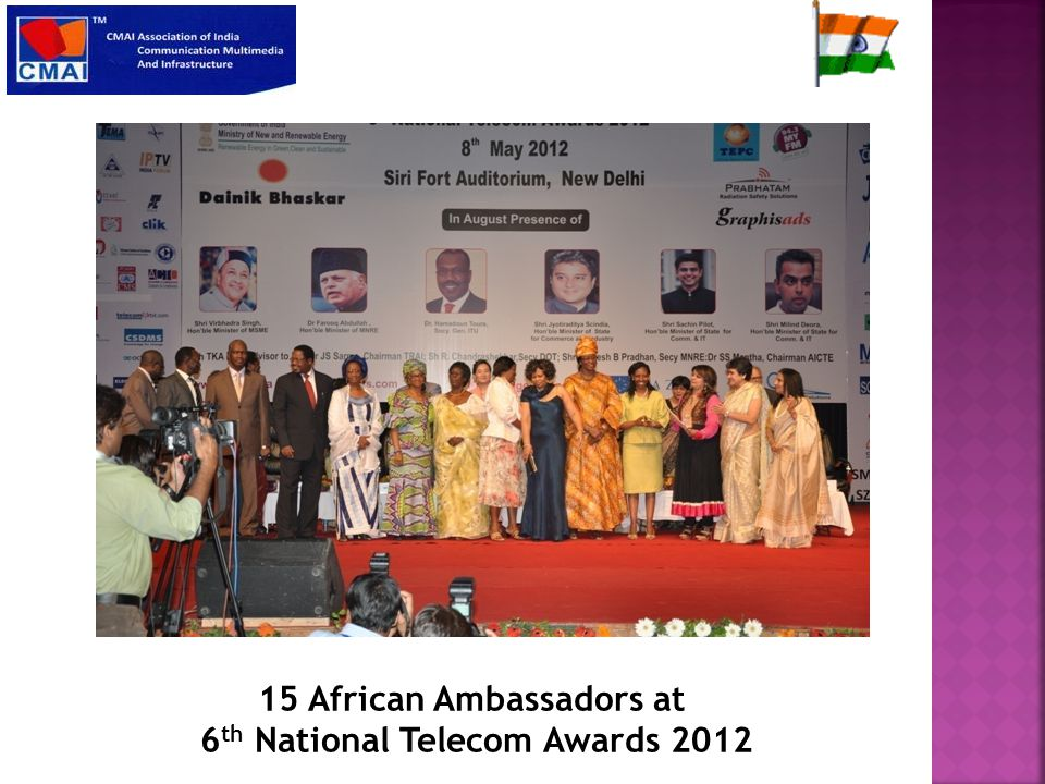 15 African Ambassadors at 6 th National Telecom Awards 2012
