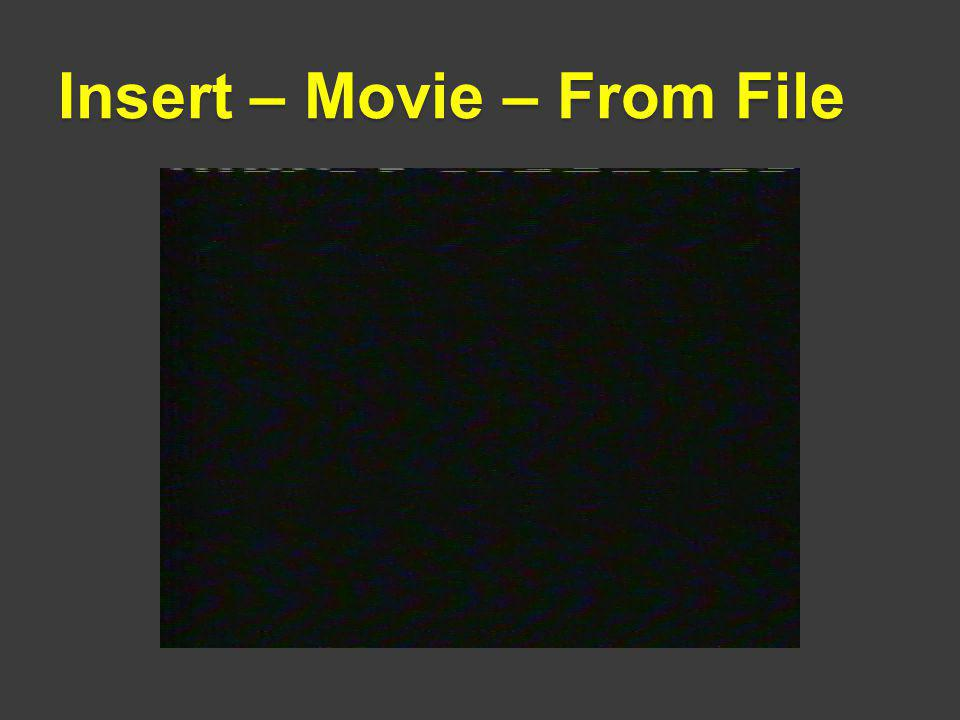 Insert – Movie – From File
