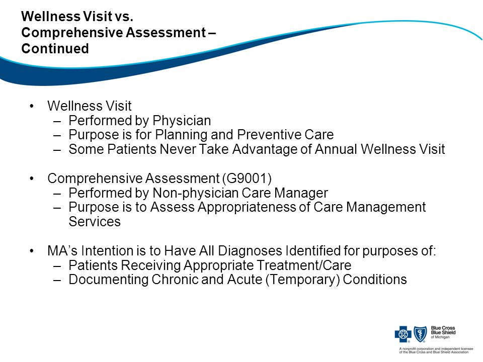 Wellness Visit vs.