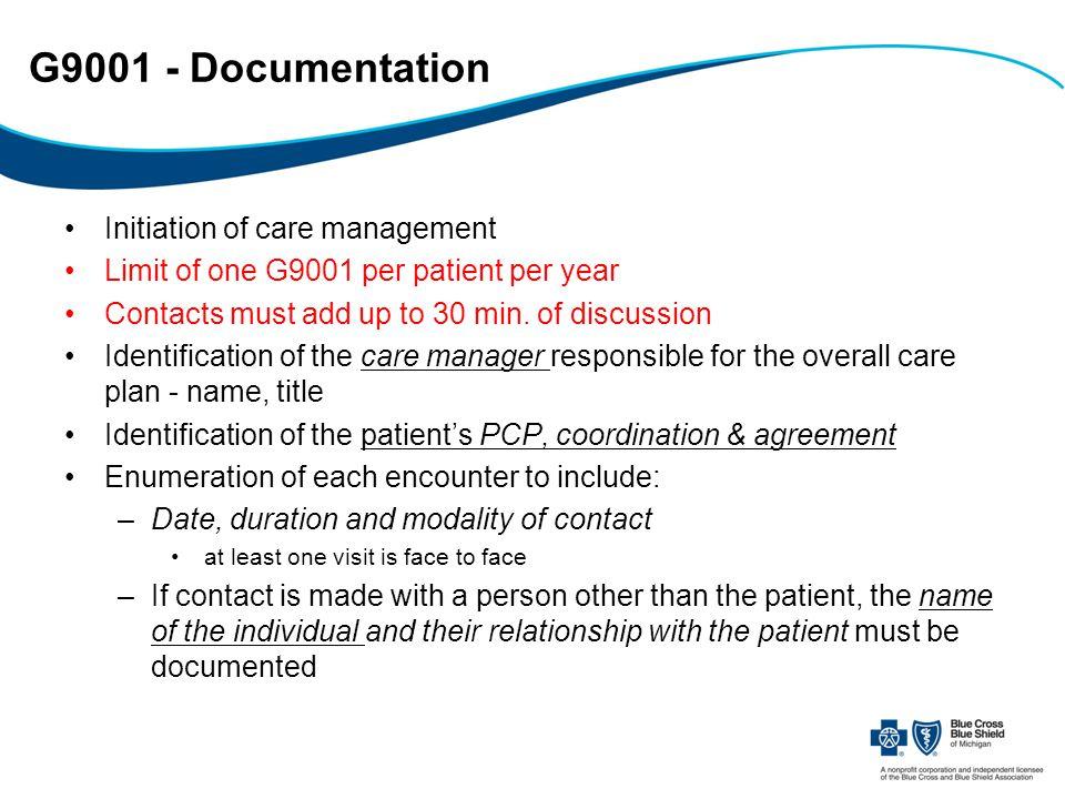 G9001 - Documentation cont.