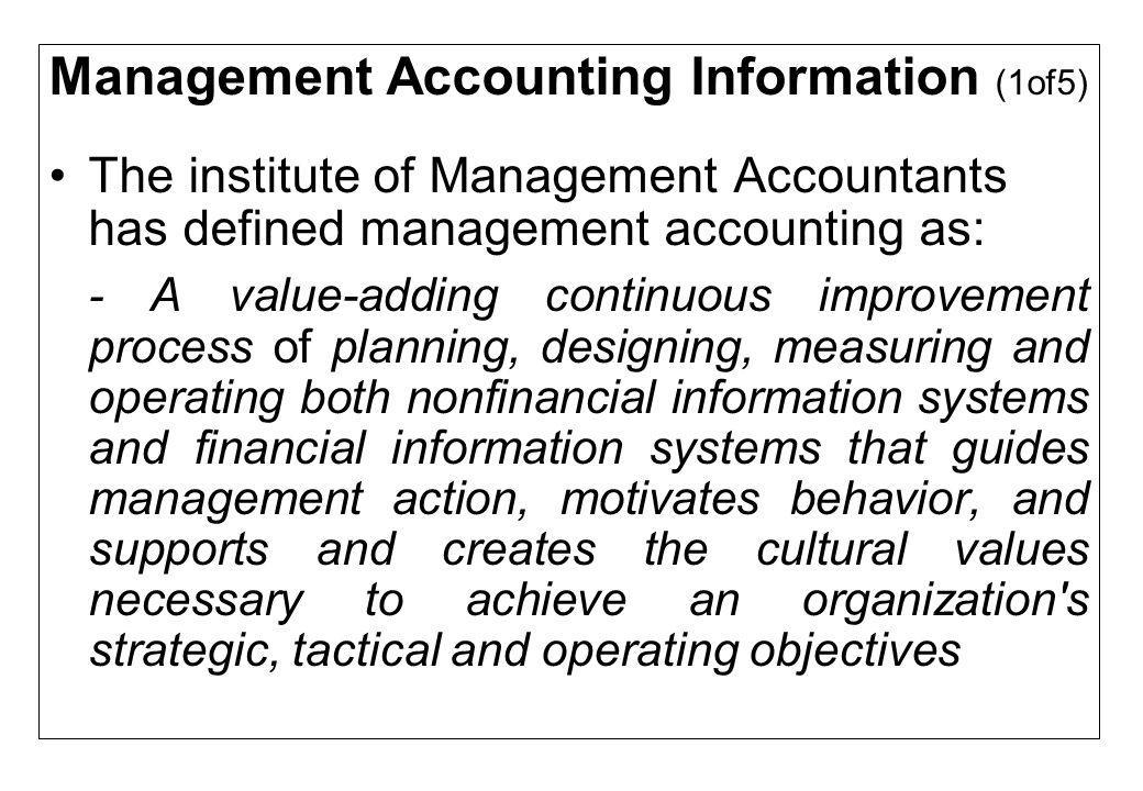 Organization Control and the Management Accounting Organization control comprises the systems that organizations use to ensure that managers and employees behave in a way that is consistent with the organization s ethics and best interests Although internal control systems protect the organization s assets from fraud or theft, little interest or attention was paid to evaluating the appropriateness of management's governance and strategic choices Massive corporate governance failures in 2002 caused intense interest in organization control