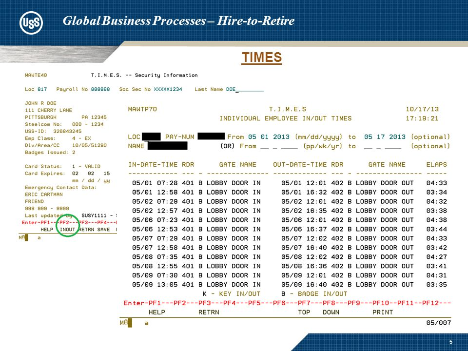 6 Global Business Processes – Hire-to-Retire