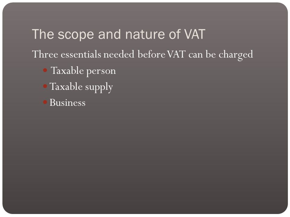 Relief for impaired debts VAT output tax is accounted for when an invoice is issued.