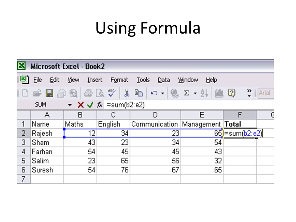 Using Formula
