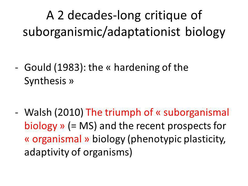 The strategy.(1) + (2) = the proper biological (= evolutionary) level is organism (and beyond).