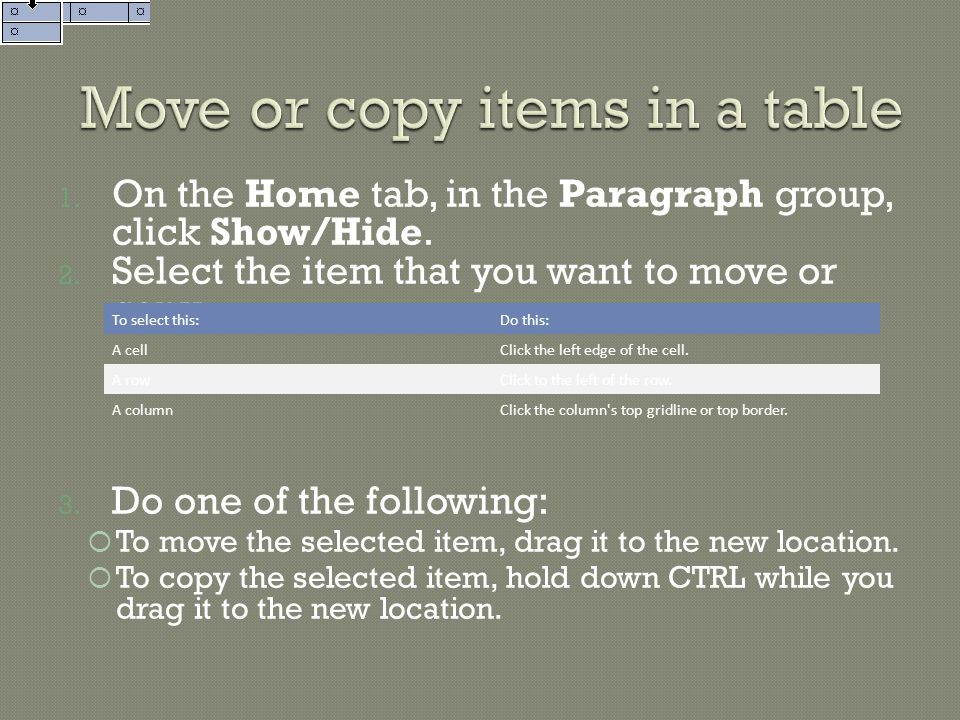 1.On the Home tab, in the Paragraph group, click Show/Hide.