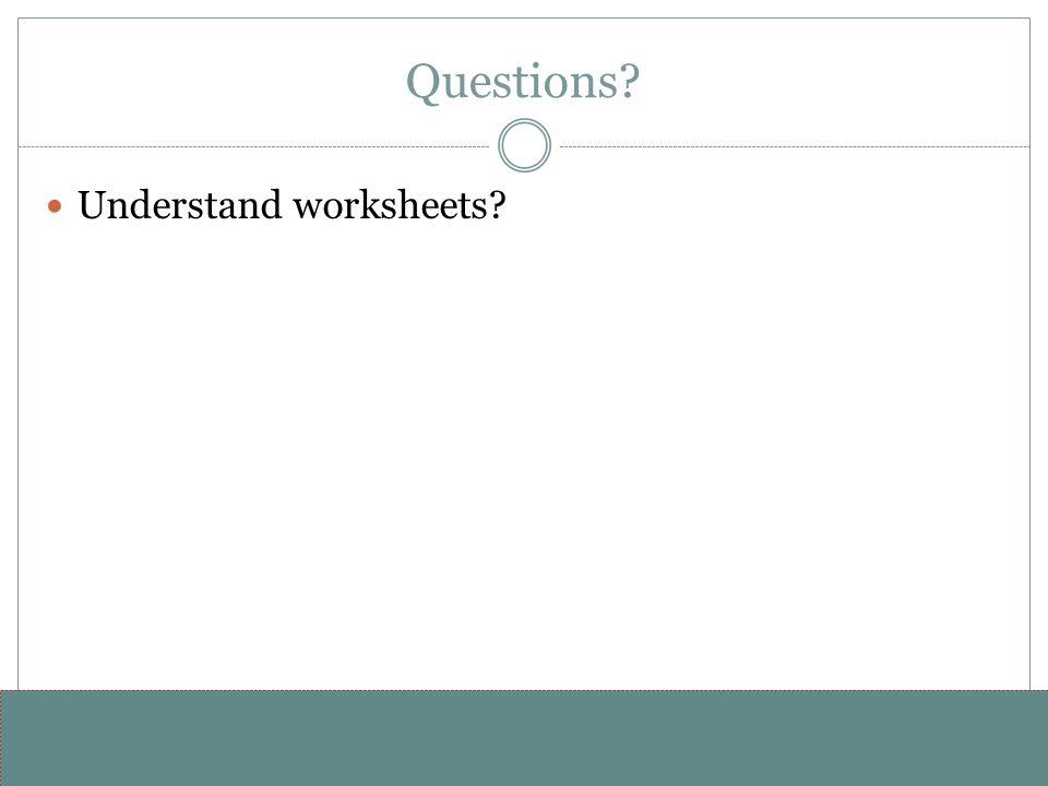 www.alterNativeMedia.biz© 2008 aNm – Michael Sheyahshe Questions Understand worksheets