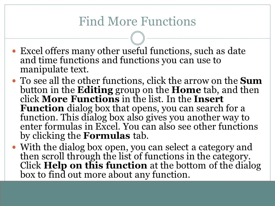 www.alterNativeMedia.biz© 2008 aNm – Michael Sheyahshe Find More Functions Excel offers many other useful functions, such as date and time functions a