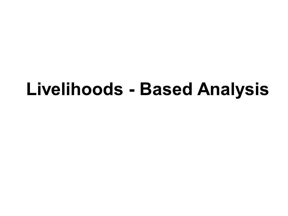 Livelihoods - Based Analysis