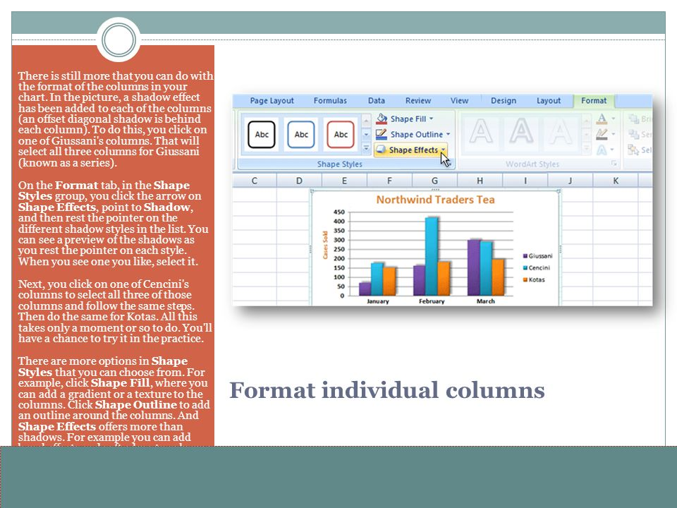 www.alterNativeMedia.biz© 2008 aNm – Michael Sheyahshe Format individual columns There is still more that you can do with the format of the columns in
