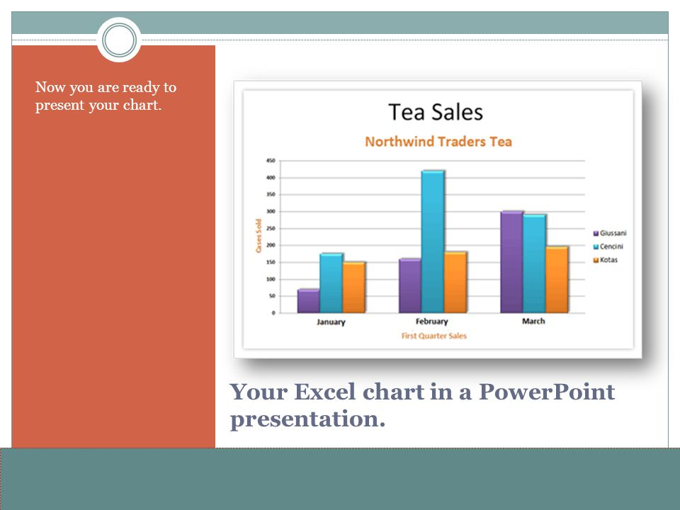 www.alterNativeMedia.biz© 2008 aNm – Michael Sheyahshe Your Excel chart in a PowerPoint presentation. Now you are ready to present your chart.