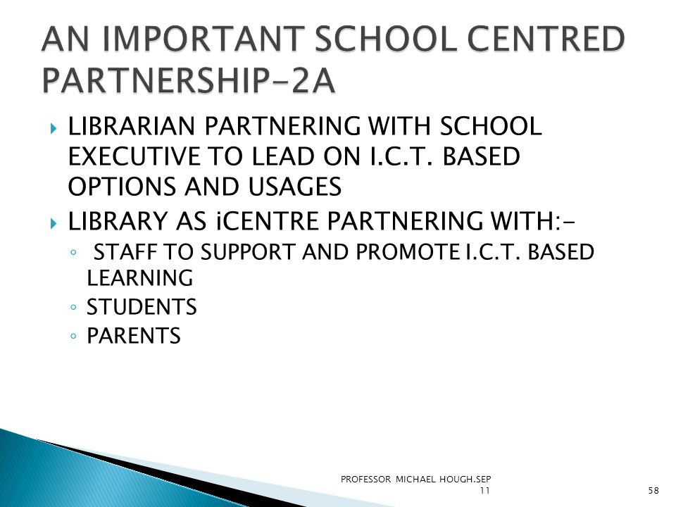 LIBRARIAN PARTNERING WITH SCHOOL EXECUTIVE TO LEAD ON I.C.T.
