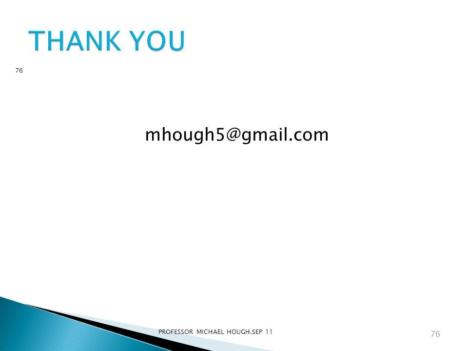 mhough5@gmail.com PROFESSOR MICHAEL HOUGH.SEP 11 76