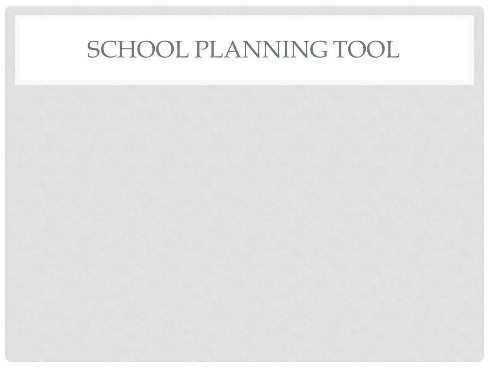 SCHOOL PLANNING TOOL