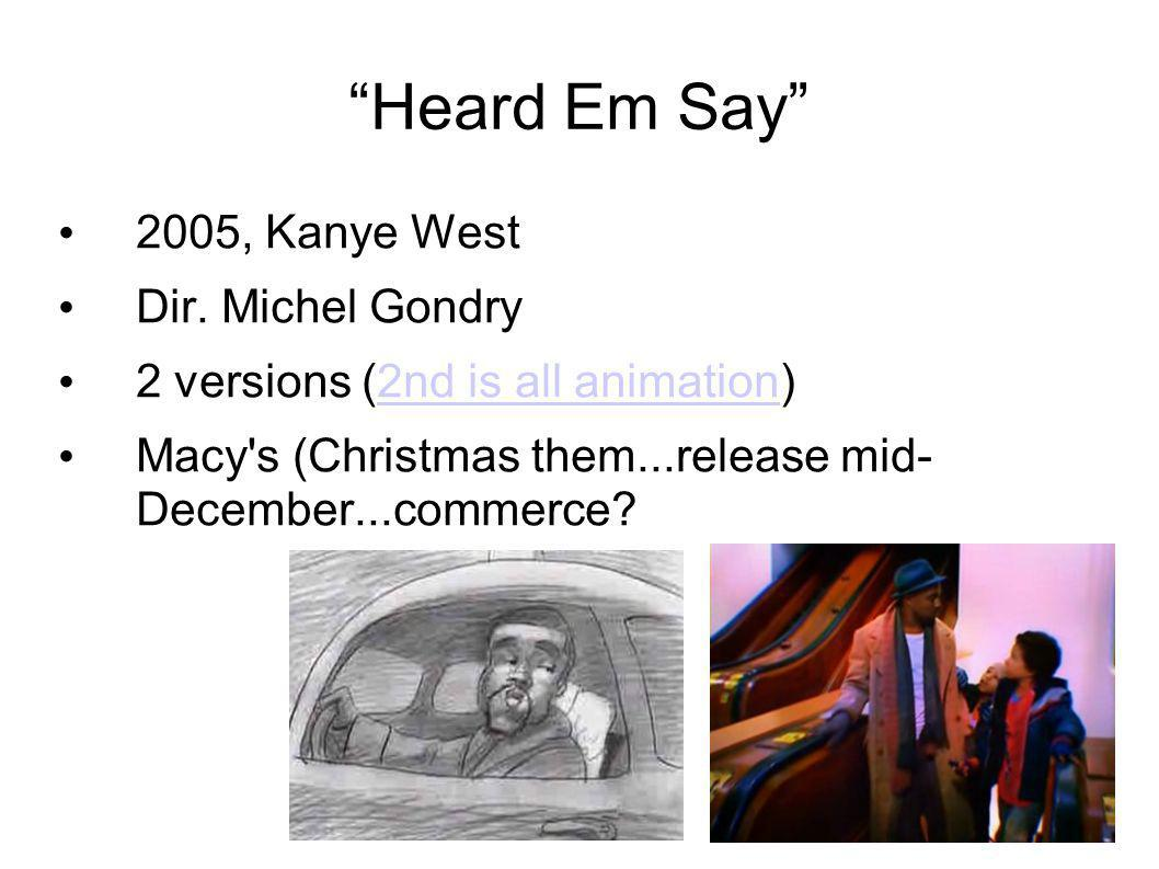 Heard Em Say 2005, Kanye West Dir.