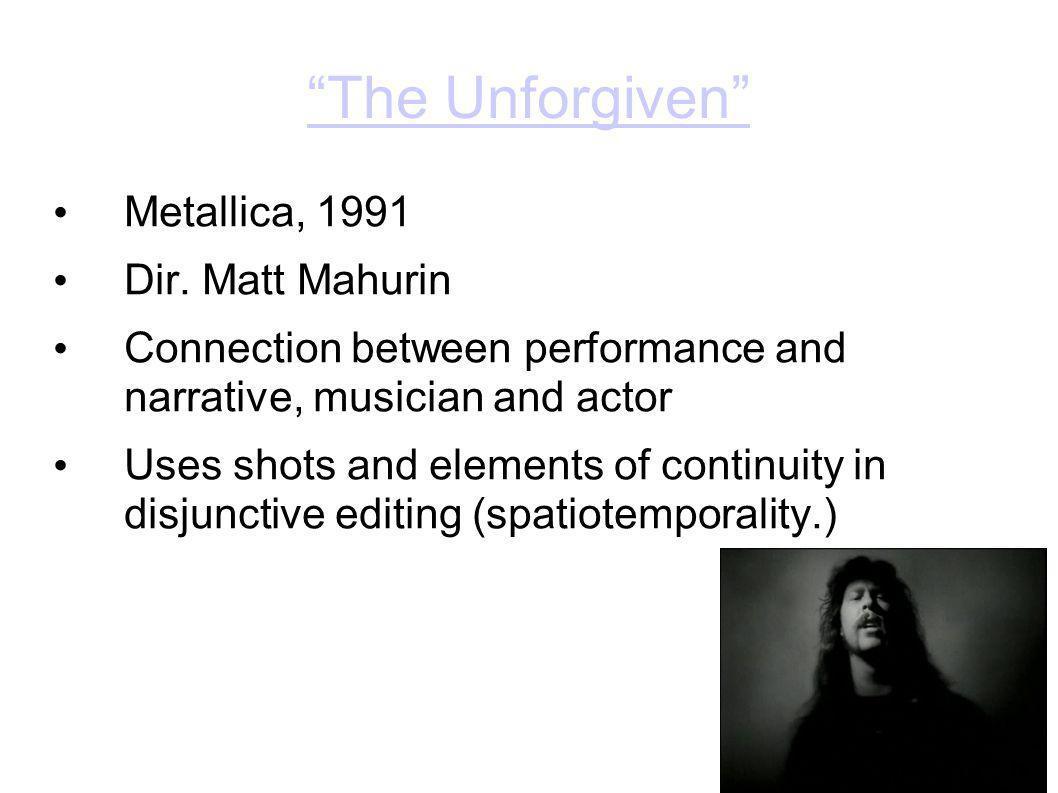 The Unforgiven Metallica, 1991 Dir.