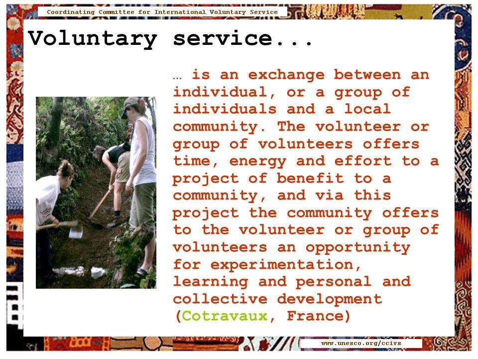 Voluntary service...