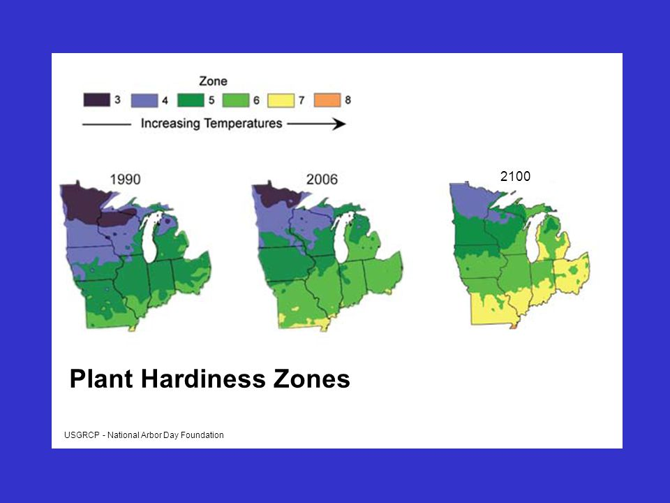 USGRCP - National Arbor Day Foundation Plant Hardiness Zones 2100