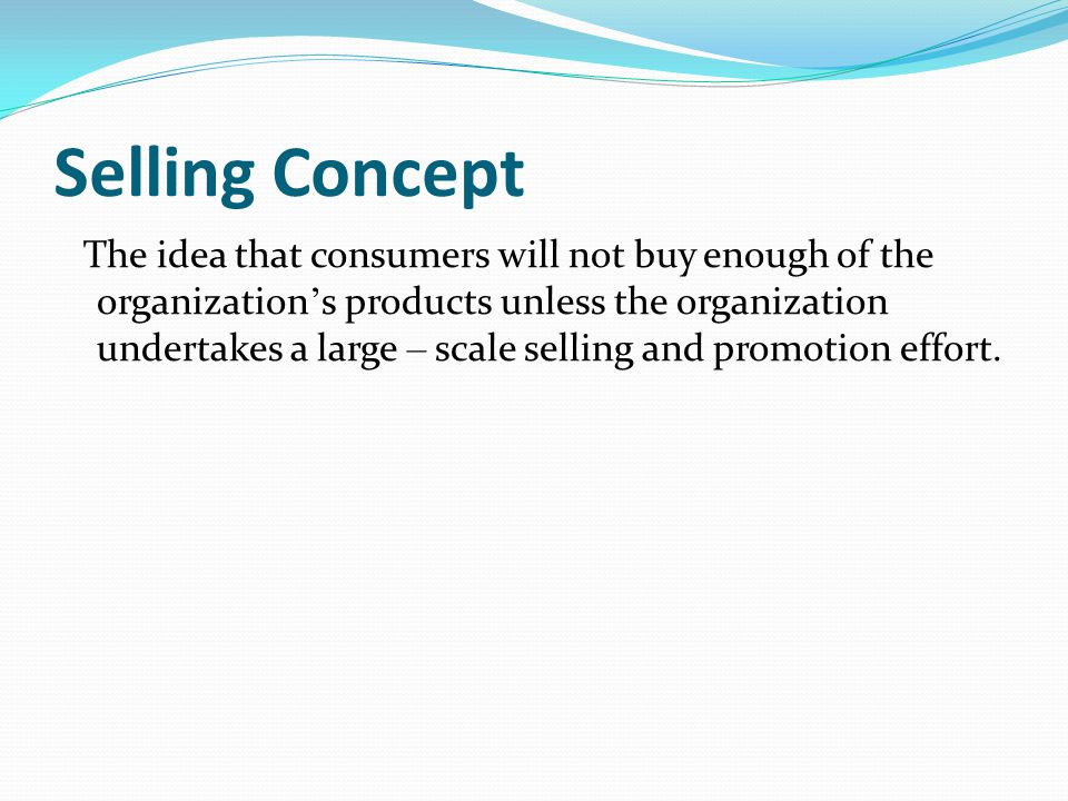 Marketing Concept The marketing management philosophy that holds that achieving organizational goals depends on determining the needs and wants of target markets and delivering the desired satisfactions more effectively and efficiently than competitors do.