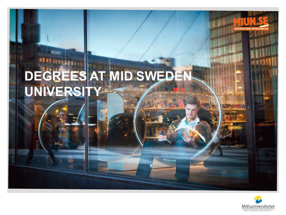 DEGREES AT MID SWEDEN UNIVERSITY