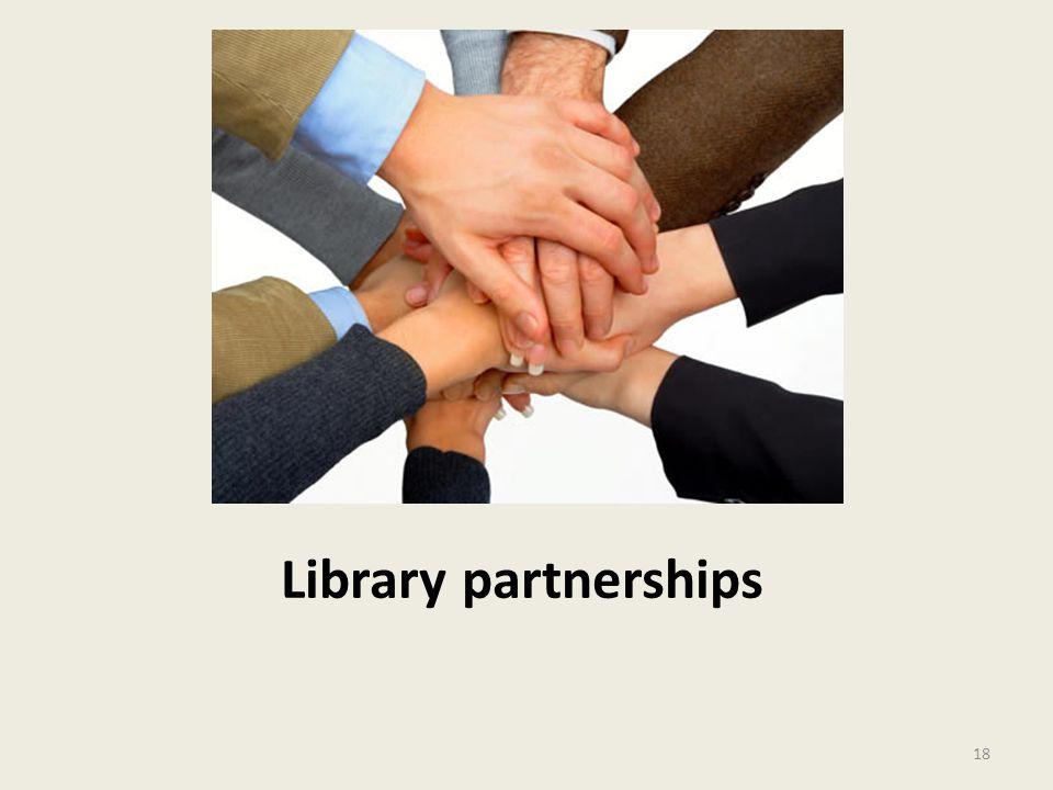 Library partnerships 18