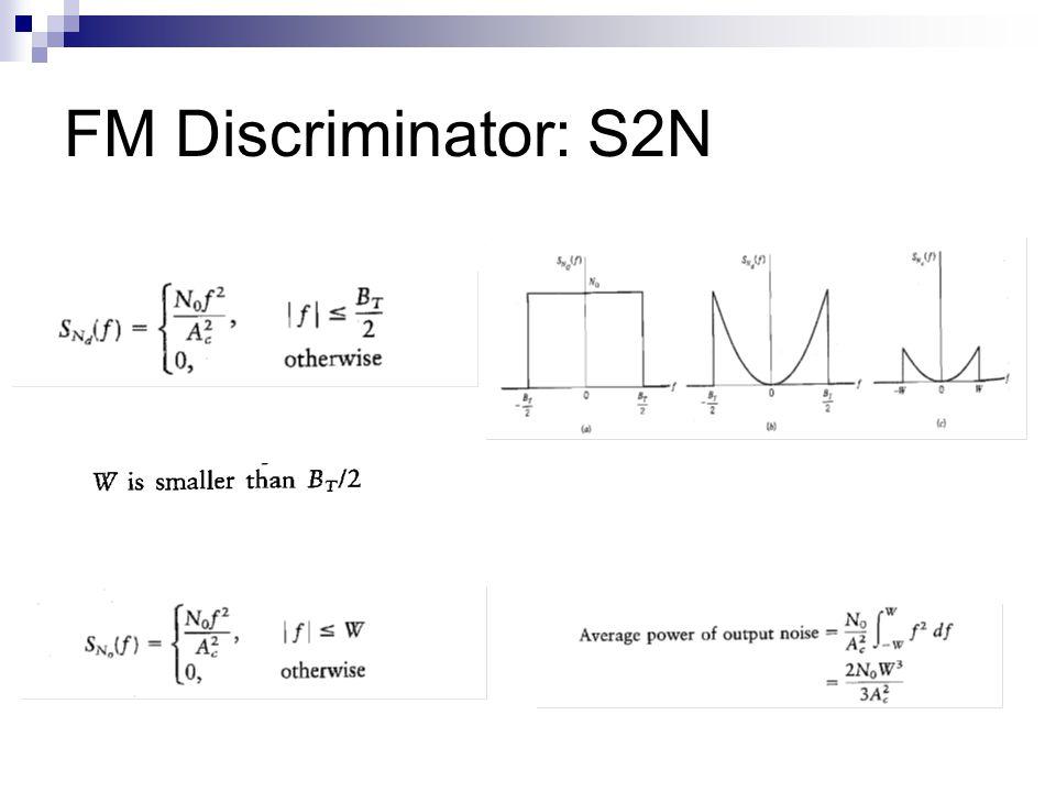 FM Discriminator: S2N