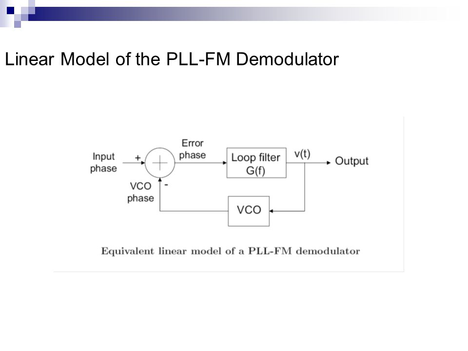 Linear Model of the PLL-FM Demodulator