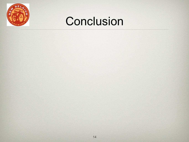 14 Conclusion
