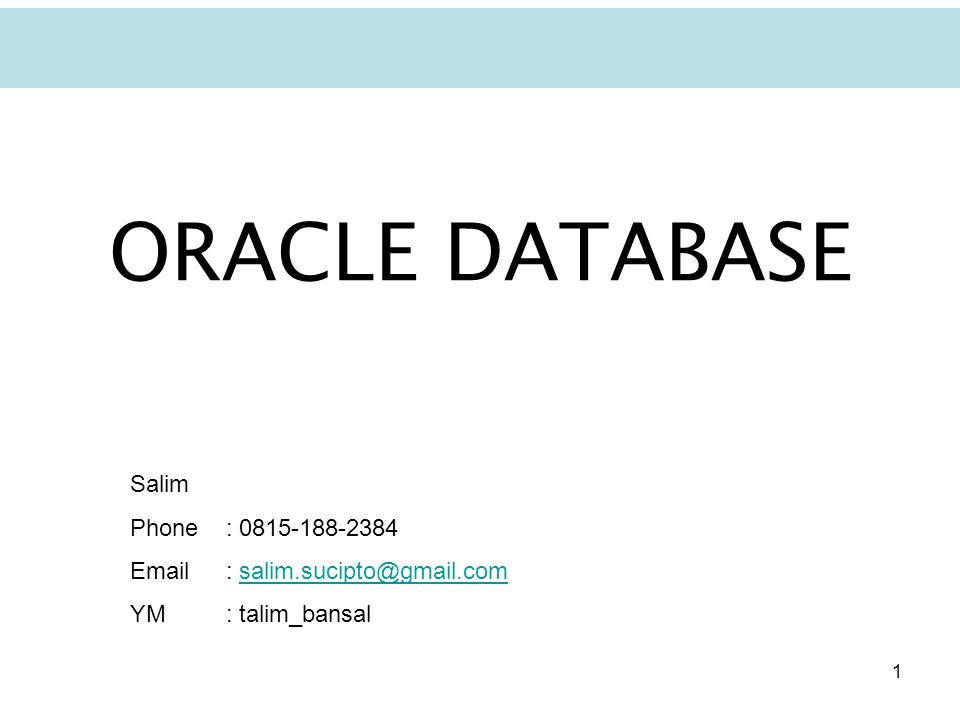 2 What is ORACLE? You can explore anything about ORACLE: www.oracle.com
