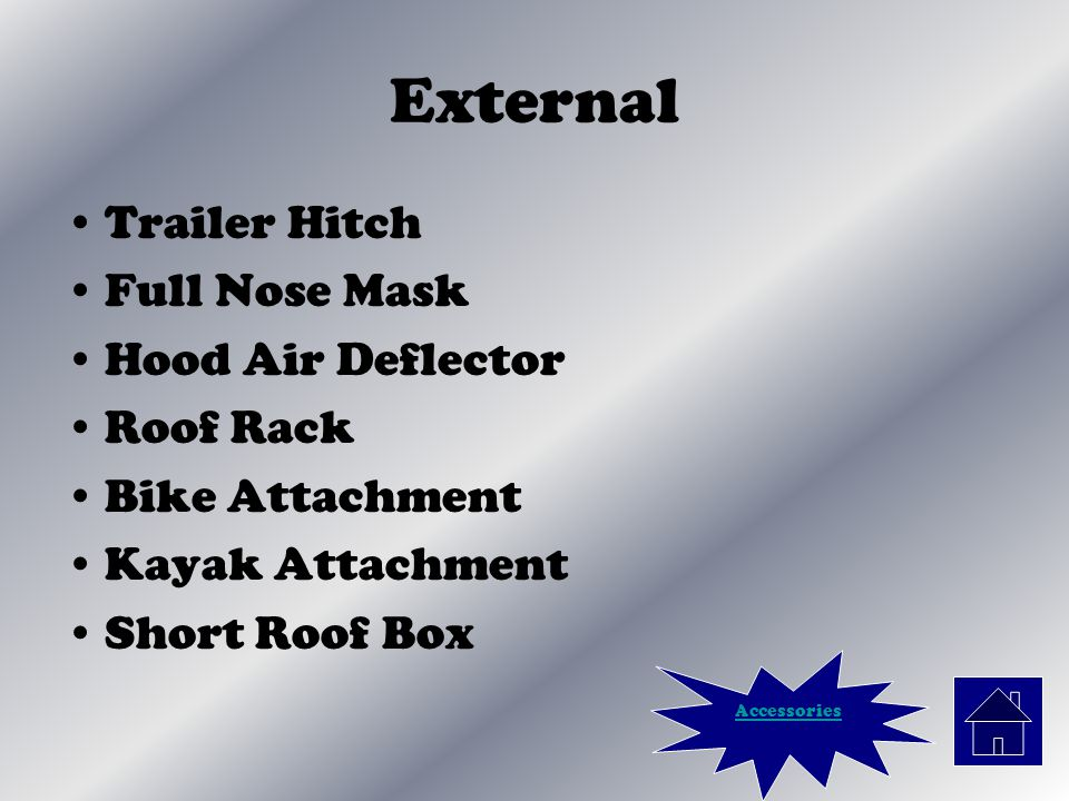External Trailer Hitch Full Nose Mask Hood Air Deflector Roof Rack Bike Attachment Kayak Attachment Short Roof Box Accessories