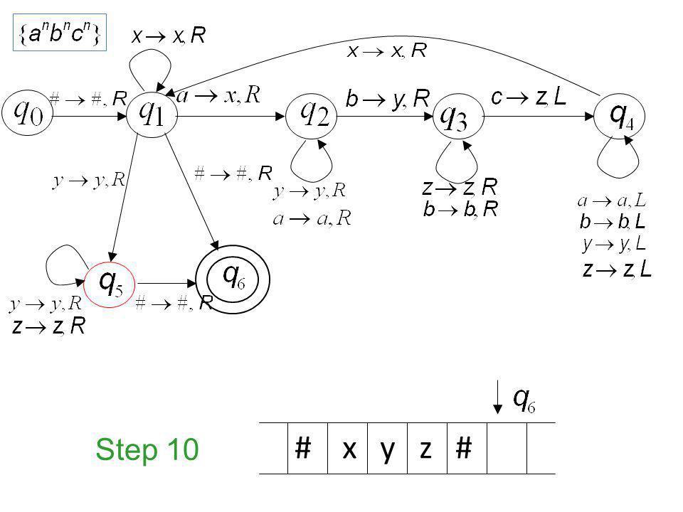 Step 10 # x y z #