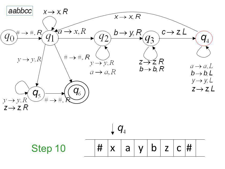 Step 10 # x a y b z c #