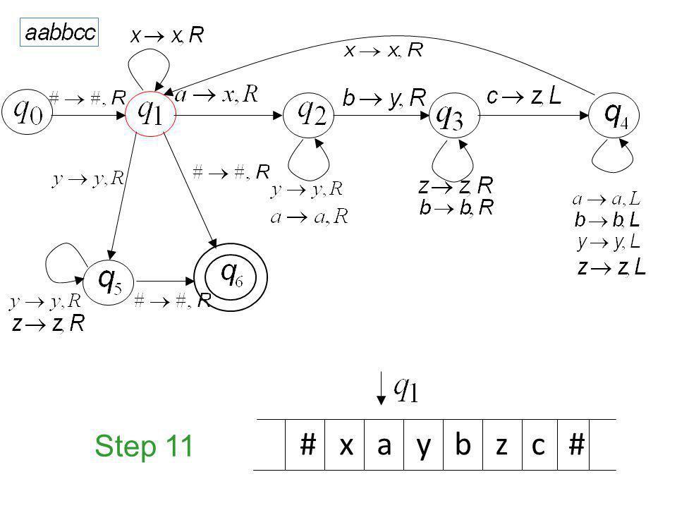 Step 11 # x a y b z c #