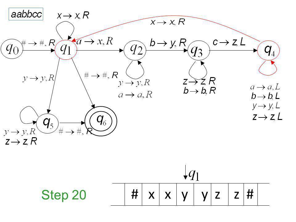 Step 20 # x x y y z z #
