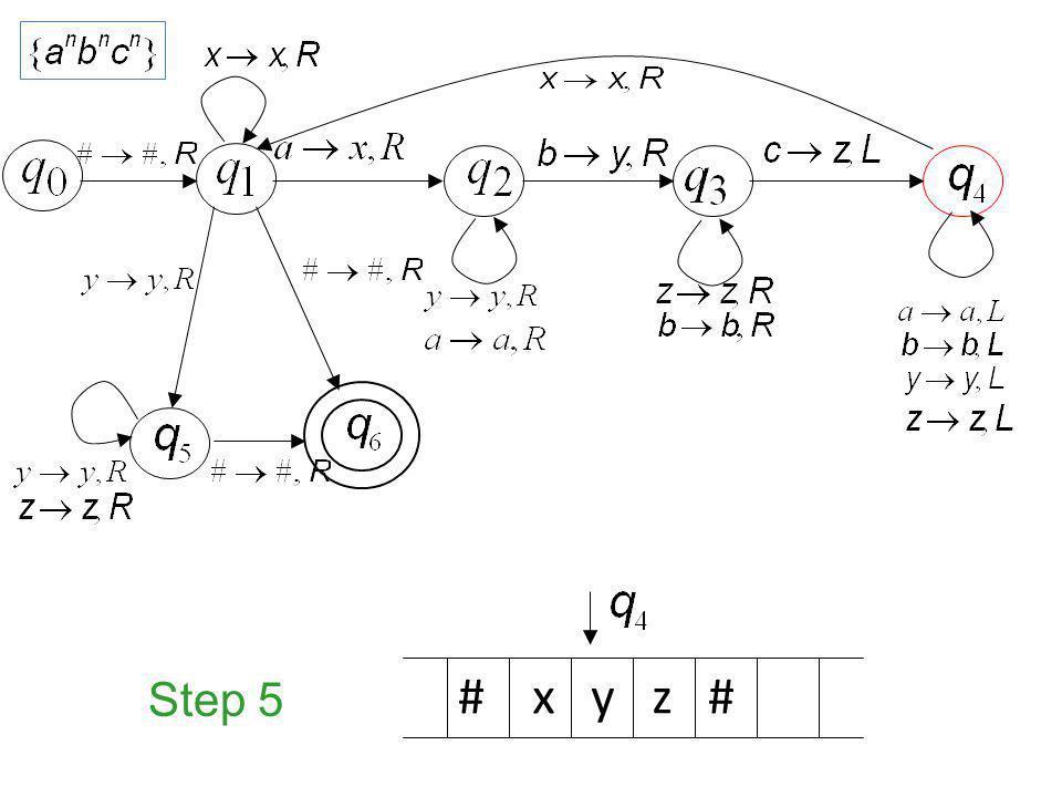 Step 5 # x y z #
