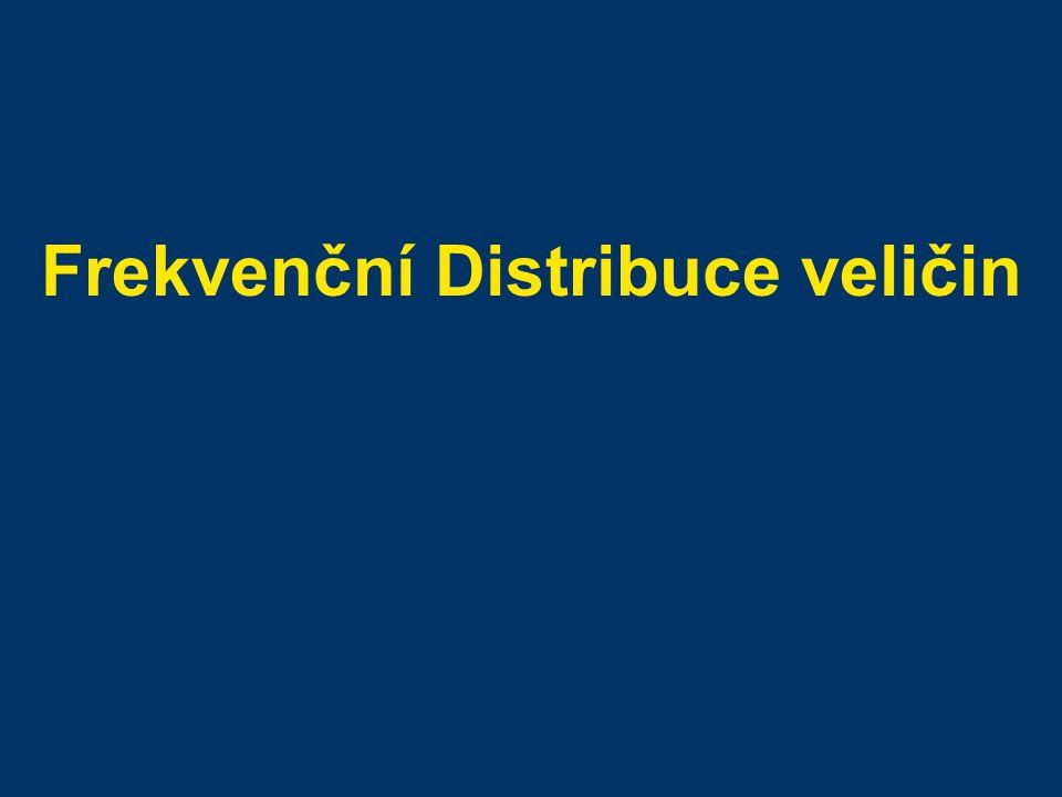 Frekvenční Distribuce veličin