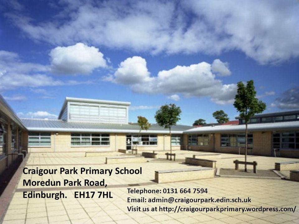 Craigour Park Primary School Moredun Park Road, Edinburgh.